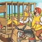 A propósito del Quijote. Don Quijote prisionero en un carro de bueyes...