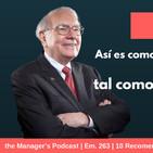 10 Recomendaciones de Warren Buffet para alcanzar el Éxito | 263
