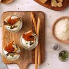 Mousse de grana padano y verduras crujientes