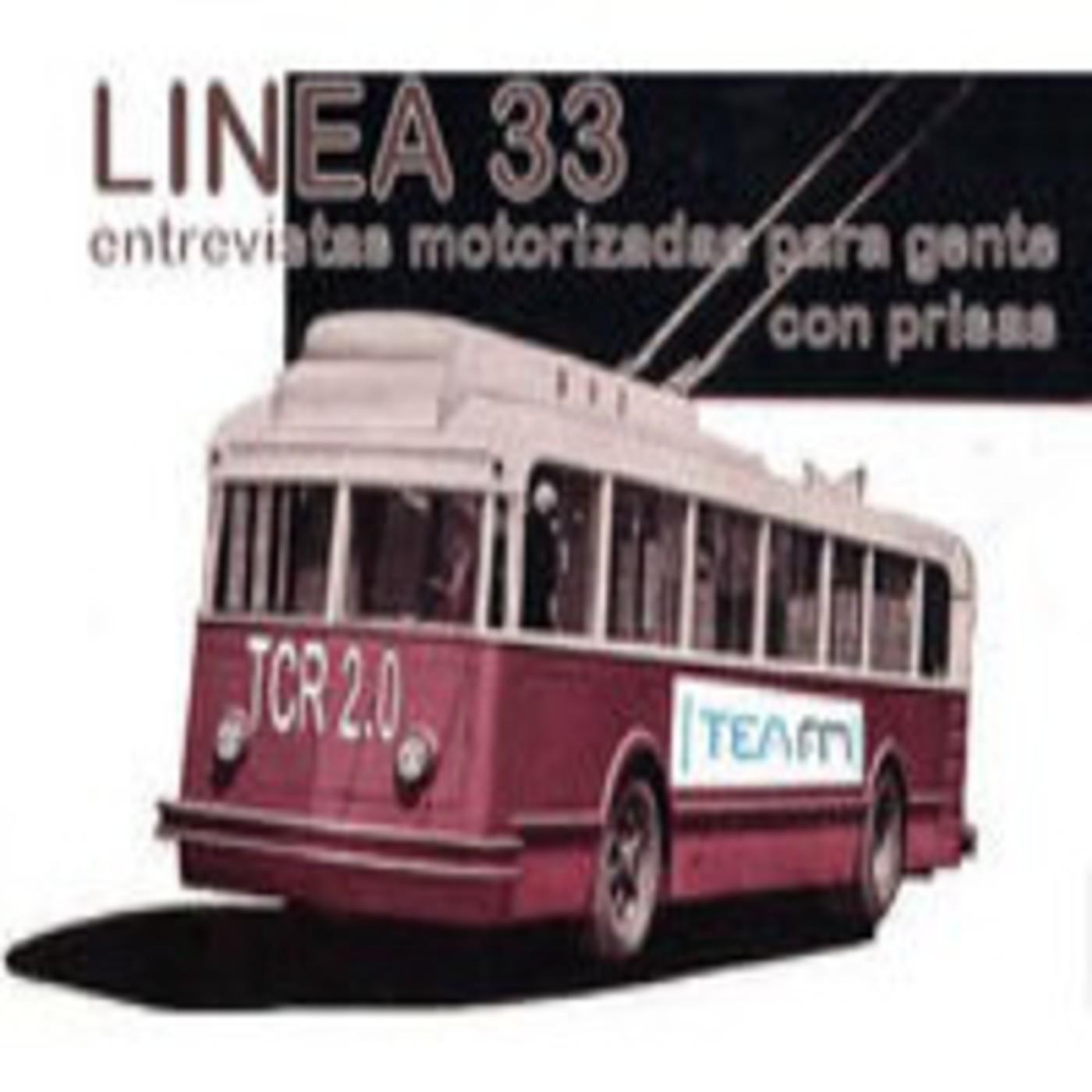 La radio en el bus. Linea 33.